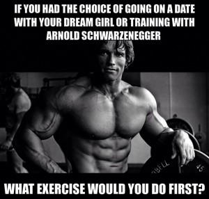 Training with Arnold or dream girl
